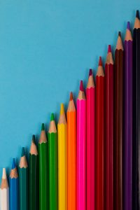 An image of rainbow pencils lined up for North Boulder Counseling. We offer child counseling in Boulder, CO. Contact a child therapist to learn more about anxiety treatment and other services. 80301